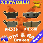 BMW F650 F 650 GS/Dakar GS Brake Pads FRONT REAR 1993-2012