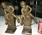 2 ANTIQUE BOY WATER FOUNTAIN BRONZE ART STATUE SCULPTURE BOOKENDS LAMP JB FRENCH