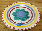 Giovanni Desimone 64 Italy Dinner Plate #L Light Blue Green Floral Red Edge WEAR