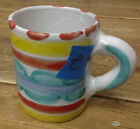 Giovanni Desimone 64 Italy Coffee Mug #E Red Dots Stripes Wide Green Blue Clouds