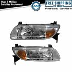 Headlights Headlamps Left  Right Pair Set NEW for 00 02 Saturn L Series