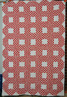 White Ocean Waves Antique Quilt ~SMALL PIECES!