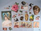 25 Piece Victorian Greeting Card Scrapbooking Scrap Authentic - Estate Find