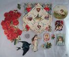 11 Piece Victorian Greeting Card Scrapbooking Scrap Authentic - Estate Find