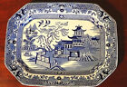 SMALL VICTORIAN BLUE & WHITE BURLEIGH ,CHINA WARE PLATE.1800'S & FAB CONDITION.