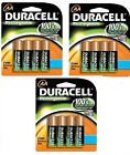 12 x Duracell AA 2450 mAh NiMH Rechargeable Batteries