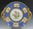 English Staffordshire Opaque Porcelain Blue Gold Hand Painted Meigh Platter