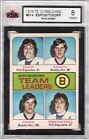 1975 76 BOBBY ORR PHIL ESPOSITO TEAM LEADERS O-PEE-CHEE #314 GRADED KSA 8  gt