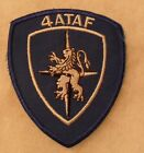 60'S NATO 4TH ALLIED TAF EMB ON TWILL GREENISH BACK EUROPEAN MADE CE RARE PIECE