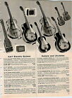 1958 AD Kay Hawaiian Spanish Electric Guitar Favilla Baritone Ukulele Amplifier