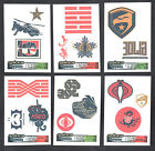 GI JOE RETALIATION (EnterPlay 2013) Complete MINI TEMPORARY TATTOO Card Set (6)