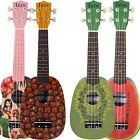 New 21 Children Boys Rockets Slap up 6 Patterns Ukulele Basswood 4 string