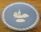 Wedgwood Blue White Christmas Plate 1986 Albert Memorial England NB Jasperware