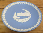 Wedgwood Blue White Christmas Plate 1979 Buckingham Palace UK No Box Jasperware