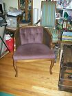 Vintage Purple Hollywood Regency Barrel Arm Chair