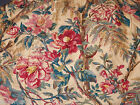 RALPH LAUREN TANGIER FLORAL TAN W/RED/BLUE/GOLD & GREEN  GOLD TAG KING BEDSKIRT