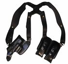 Kimber 1911 3Horizontal Leather Pro Carry Shoulder Holster Black Right Hand
