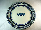 Tienshan SPONGE - BLUE (Hearts & Bands) Pattern Dinner Plate