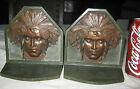 ANTIQUE USA MISSION CJO JUDD # 9893 INDIAN CAST IRON ARTS CRAFTS BOOK BOOKENDS