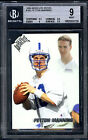 PEYTON MANNING 1998 PLAYOFF ABSOLUTE #165 BGS-9 MINT w 2x9.5 NFL RC ROOKIE CARD