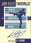 2011 UD World of Sports Athletes of the World Autograph #AWGS Georges St-Pierre