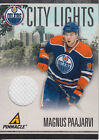 2010-11 (OILERS) Pinnacle City Lights Materials #86 Magnus Paajarvi Jsy 499