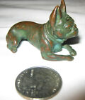 ANTIQUE BRONZE LCT TIFFANY STUDIOS FRENCH BULLDOG DOG ART STATUE PAPERWEIGHT TOY