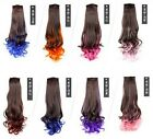Harajuku Women Fake ponytail curls Color gradient volume ponytail Colored wigs