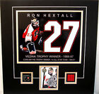 RON HEXTALL AUTO SIGNED UD BAP MATTED FLYERS PHOTO PHILADELPHIA SPECTRUM SEAT