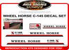 C-145 WHEEL HORSE TRACTOR MOWER  DECAL SET, reproduction