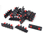 15Pcs 4 Way Black Red Stereo Speaker Plate Terminal Strip Connector Block