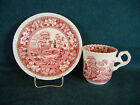 Spode Pink Tower New Mark Demitasse Cup and Saucer Set(s)