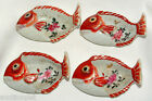 Antique JAPANESE ARITA FISH SHAPED BOWLS Bone/Sauce Dish (4) Porcelain