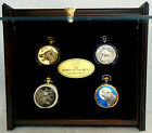 Franklin Mint SPIRIT OF THE WOLF POCKET WATCH COLLECTION w Case