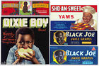 5 ORIGINAL CRATE LABELS VINTAGE BLACK AMERICANA 1940-1960S DIXIE BOY ADVERTISING
