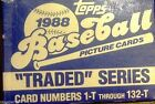 1988 Topps Traded Baseball Complete Boxed Set Cards are Mint inside 1-132