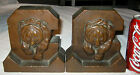 ANTIQUE UNIVERSITY CALIFORNIA BERKLEY ARMOR BRONZE CLAD BEAR STATUE ART BOOKENDS