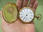 Antique 1905 Waltham Gold FIlled double hunter pocket watch in Philadelphia Case