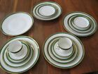 18 Pc Richard Ginori Porcelain Italy Dinner Plate Cup Saucer Salad Green Palermo