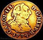 PURE 22K GOLD! OLD US $1 GOLD COIN 1774 SPANISH GOLD 1/2 ESCUDOS DOUBLOON! (D5)