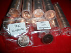 Rare 2012 Canadian  Magnetic & non magnetic penny rolls  from RCM ( last year)17