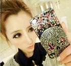 Handmade Skull Bling Assorted Color for cell Phone iPhone 4 4s Case Cover NEW