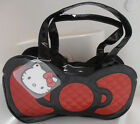 NWT HELLO KITTY LOUNGEFLY LARGE FUN BOW PURSE SATCHEL BAG red shiny patent