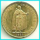 HUNGARY -1893 kb - 20 KORONA- GOLD  COIN-  UNC !!!! .