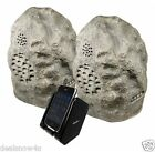 Cables Wireless Rock Speaker Home Music Audio Party Pool Deck Outdoor Granite