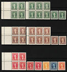 Canada KGVI MUFTI, Booklet Panes, Coils, Scott 231-236, 238-240, most MNH - $161