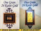 ACB Gold Pair of 1 & 5Grain 24k Pure Bullion Bars in Certificate of Authenticity
