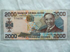 Bank of Sierra Leone 2000 Leones,1st January 2000,H/I 794156 Circulated
