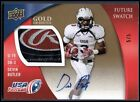 KKX 2013 UPPER DECK USA FB DEVIN BUTLER #76 RC AUTO LAUNDRY TAG PATCH GOLD #5 5