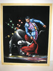 Black Velvet Art Painting Vintage Bull Fighter Matador 21